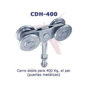 CARRO DOBLE 400 KG PUERTA METALICA